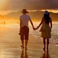 唯美漂亮有境界的沙滩情人头像