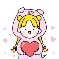微信卡通一男一女恋人头像